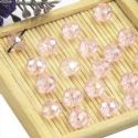 Beads, Selenial Crystal, Crystal, Light pink AB, Faceted Discs, 8mm x 8mm x 6mm, 10 Beads, [ZZC104]